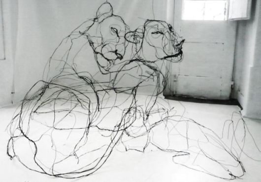 Fabulous Wire Sculptures Appear Like Giant Ink Drawings