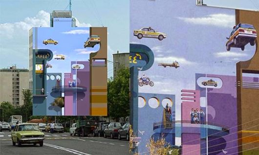 Amazing Murals, Optical Illusions And Artworks Of Mehdi Ghadyanloo