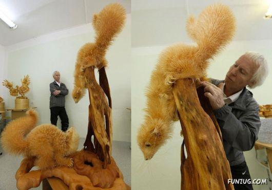 Amazing Wooden Chips Artwork