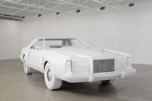 Lincoln Continental Made Entirely Of Cardboard