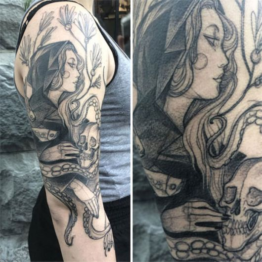 Beautiful Sketch Tattoos By Nomi Chi