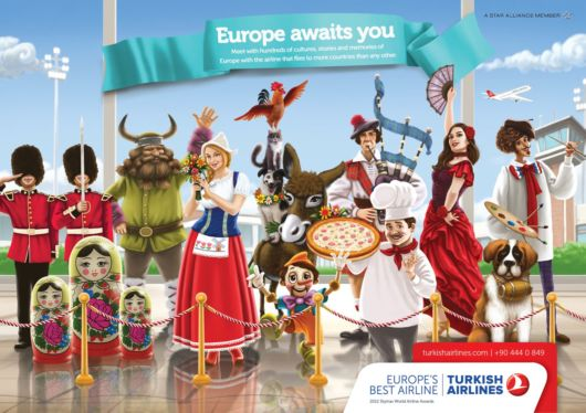 Colorful Turkish Airlines Ad Posters