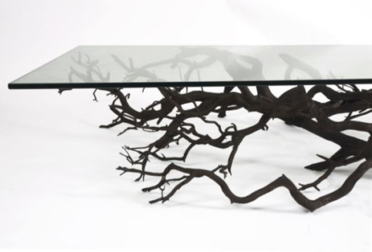 Beautiful Unconventional Shelf Made From Fallen Branch Of A Tree