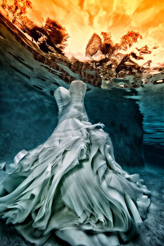Underwater Bridal Fashion Photography