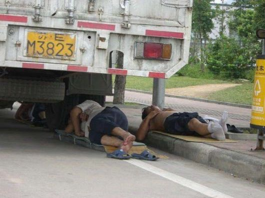 Funny Chinese People Sleeping