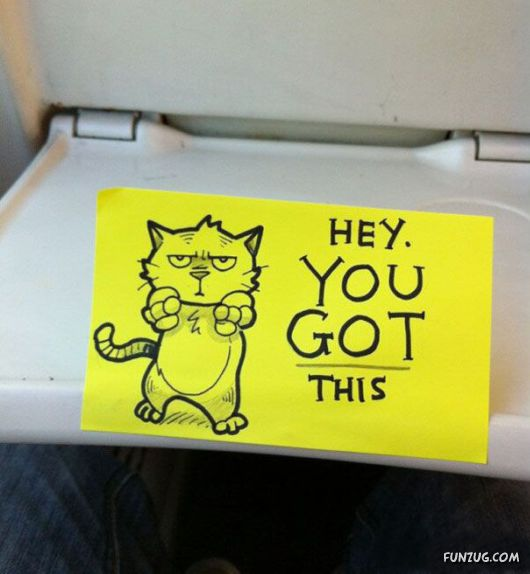 Cute Motivational Sticky Notes On The Train