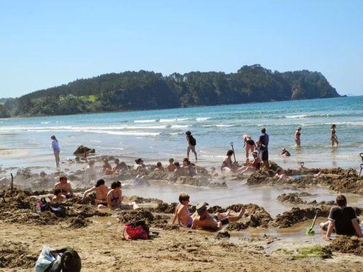 The Hot Water Beach In Coromandel Peninsula, New Zealand