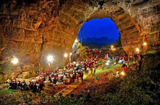 The Moon Cave In China