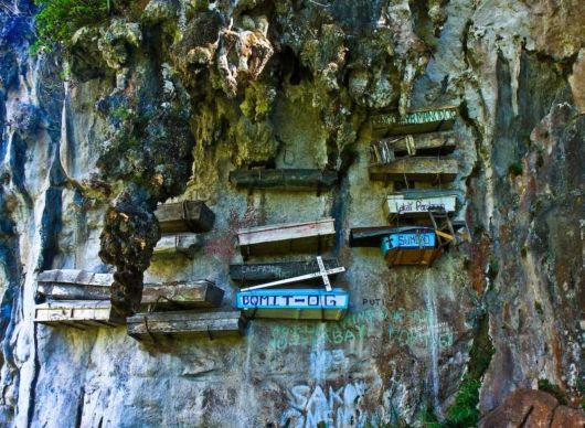 The Hanging Coffins At Sagada Cemetery