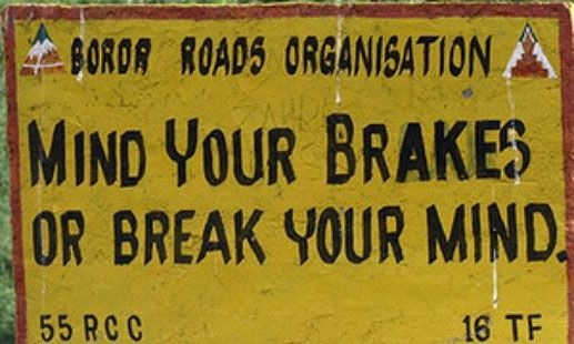 Life Lessons You Can Learn From Road Signs While Travelling In India