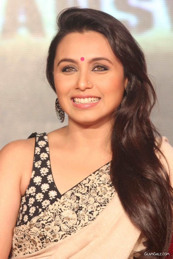 Smiling Rani Mukherjee In Saree