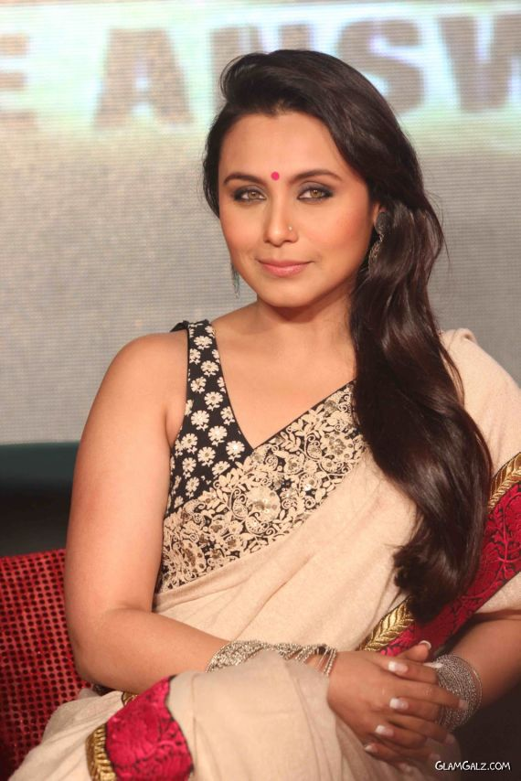 Smiling Rani Mukherjee In Saree