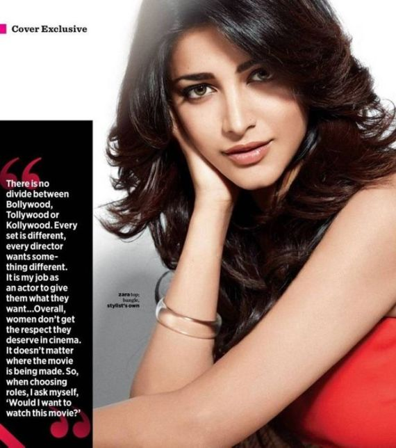 Shruti Haasan On Womens Health Magazine September 2015
