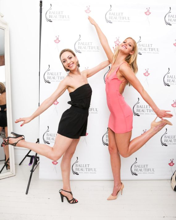 Erin Heatherton In Pink Outfit At Ballet Beautiful Custom Workout Launch