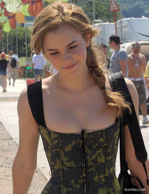 Pretty Emma Watson At Glastonbury Festival
