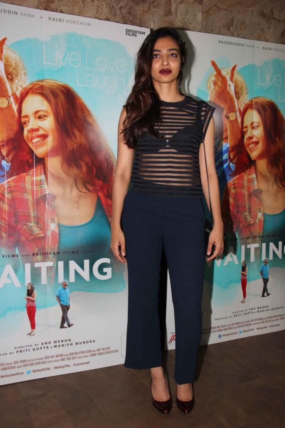 Radhika Apte At The Special Screening Of Waiting