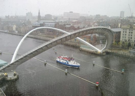 The Gateshead Millennium Bridge In England