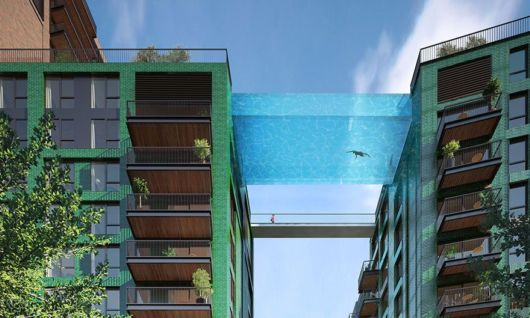 Worlds First Glass-Bottom Sky Pool 115 Feet Above London